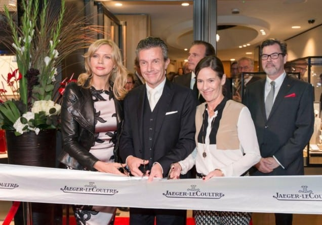 Jaeger-LeCoultre Boutique Opening Frankfurt Veronica Ferres, Daniel Riedo (CEO Jaeger-LeCoultre), Kim-Eva Wempe