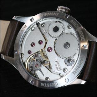 Archimede Deck Watch Gehäuse Rückseite