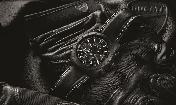 Fastrider Black Shield black leather strap