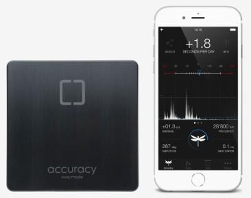 OneOf-accuracy Sensor misst die Ganggenauigkeit Ihrer Uhr über App für i-Phone und i-Pad
