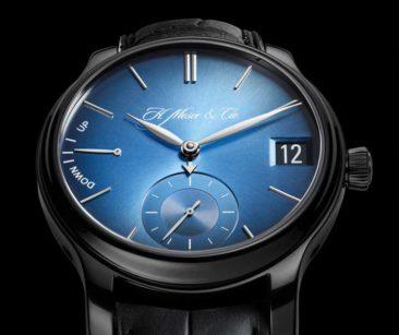 H.Moser & Cie Perpetual Calendar Funky Blue Titan