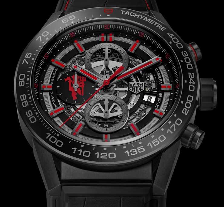 Carrera Heuer 01 Manufakturchronograph Manchester United