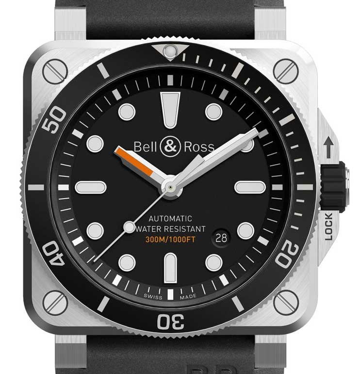 BR 03-92 Diver: Die erste quadratische Taucheruhr von Bell & Ross