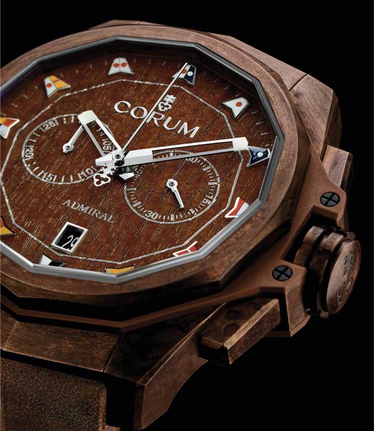 Corum Admiral AC-One 45 Chronograph Bronze: Patina-Unikat