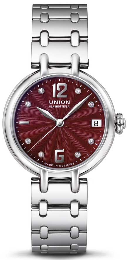 Union-Glashütte Sirona Datum mit Metallband