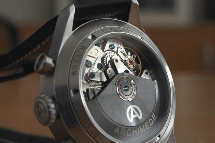 Archimede Pilot Chronograph TriKompax