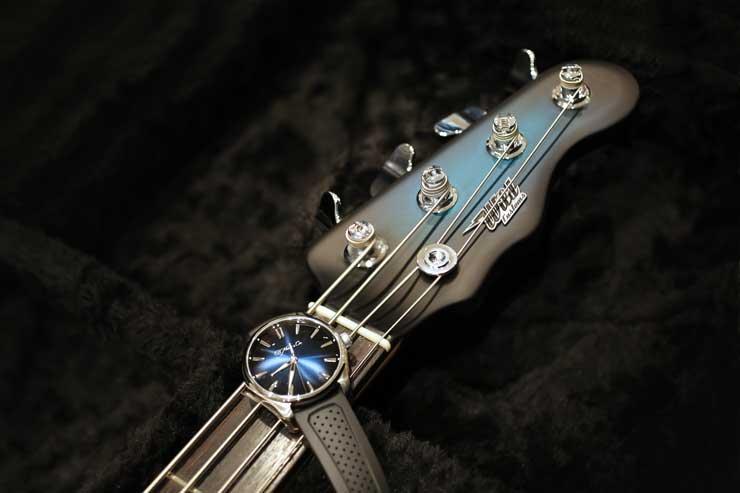 Adam Clayton, U2,plays funky blue
