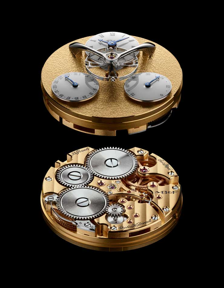 MB&F Legacy Machine Split Escapement Engine Gelbgold