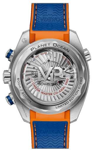 Im Omega Online-Shop Omega Seamaster Planet Ocean Michael Phelps Limited Edition Rückseite