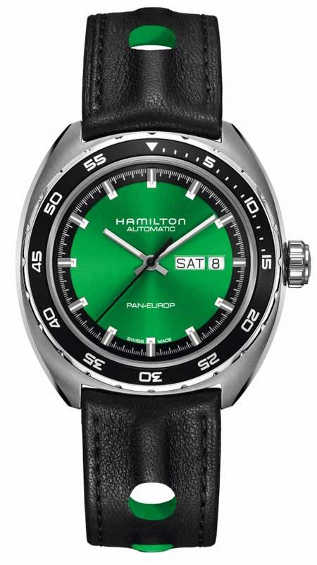 Hamilton Pan Europ Green Edition mit Lederband