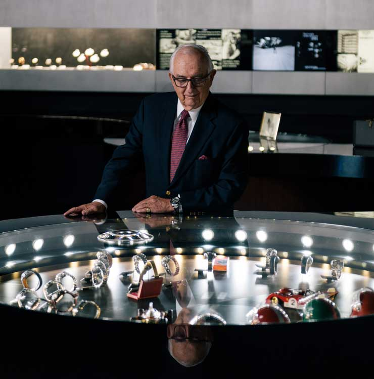 Jack Heuer @ TAG Heuer manufacture