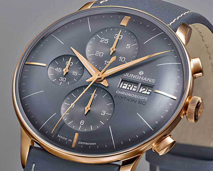 Junghans Meister Chronoscope limited Editions in edlem Grau