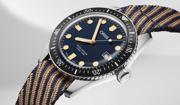 Oris Divers Sixty-Five mit einem r-Radyarn®-Armband
