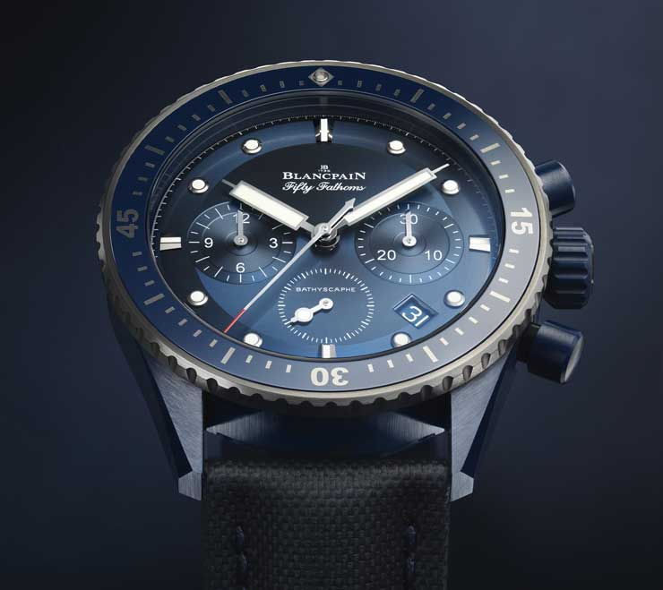 Blancpain Fifty Fathoms Bathyscape Bucherer Blue Editions