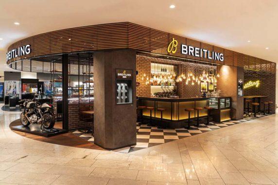 Breitling Bistro Bar Concept Premiere bei Jelmoli in Zürich