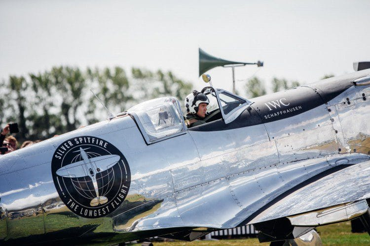 IWC Silver Spitfire the longest flight