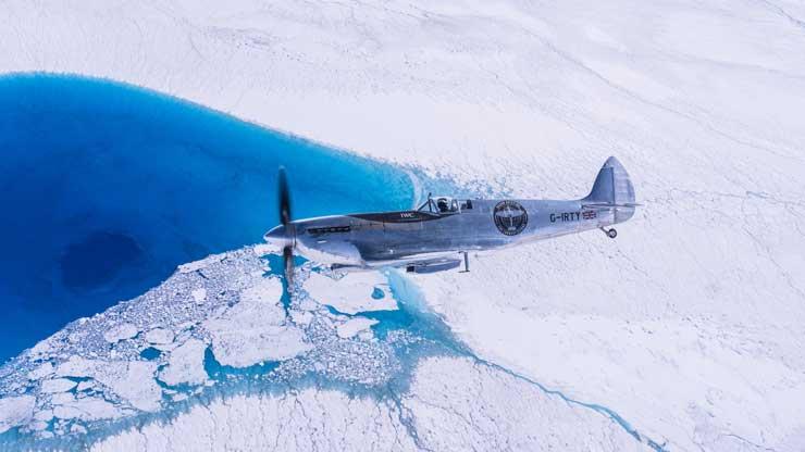 Silver Spitfire über Grönlande