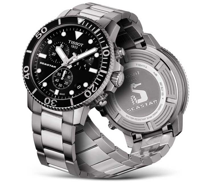 Eleganz im und unter Wasser verspricht der neue Tissot Seastar 1000 Quartz Chronograph