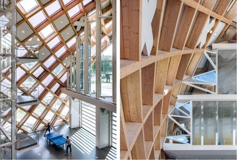 Holzgitter-Konstruktion