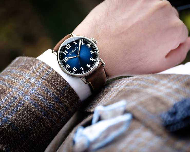 Heritage Centre Seconds Funky Blue von H. Moser & Cie