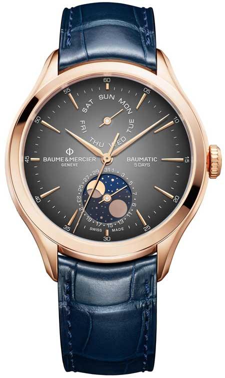 Baume & Mercier Clifton Baumatic Tag-Datum, Mondphase