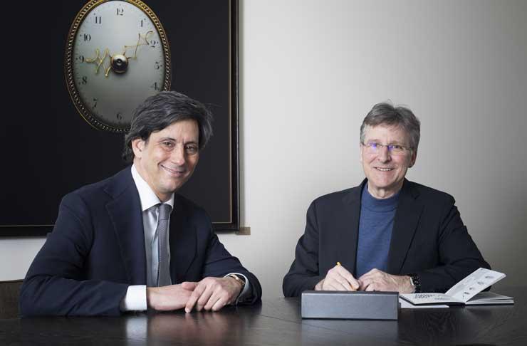 Parmigiani Fleurier, Davide Traxler (L), Michel Parmigiani (R)