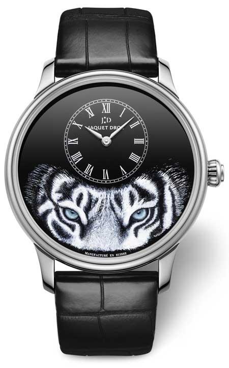 Jaquet Droz Petit Heure Minute Tiger Weissgold