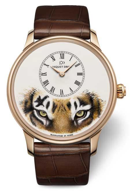 Jaquet Droz Petit Heure Minute Tiger Rotgold