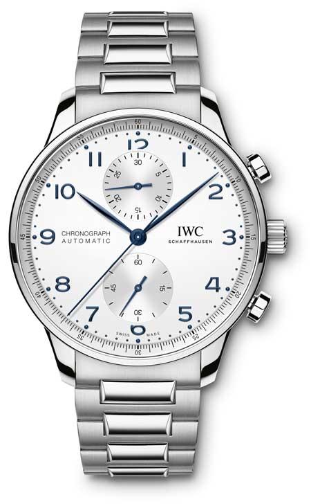 IWC Portugieser Cronograph mit Edelstahlband