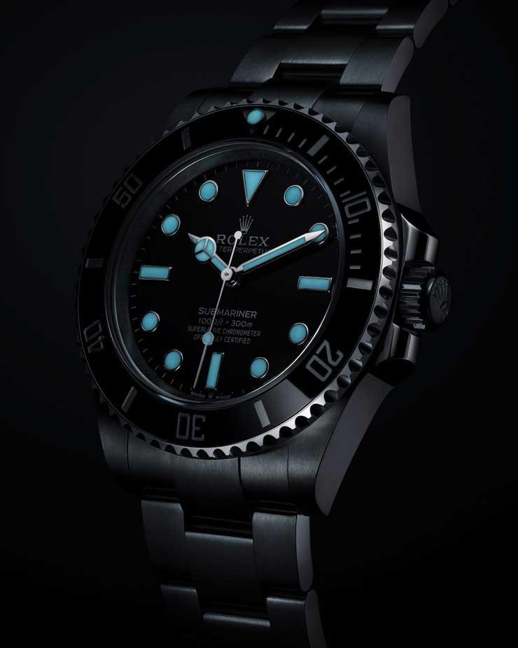 Chromalight Anzeige, Rolex Submariner, Rolex Submariner Date