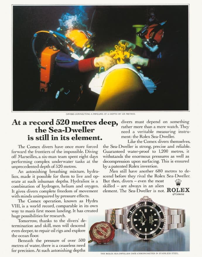 Rolex Advert